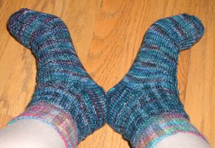 Fleece Artist Socks Side view